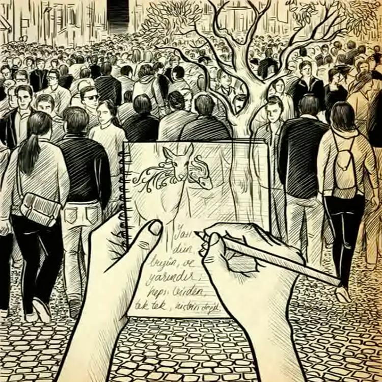 """"""" GÜRÜLTÜDE YAZMAK"""" Animation for Ece Temelkuran"""