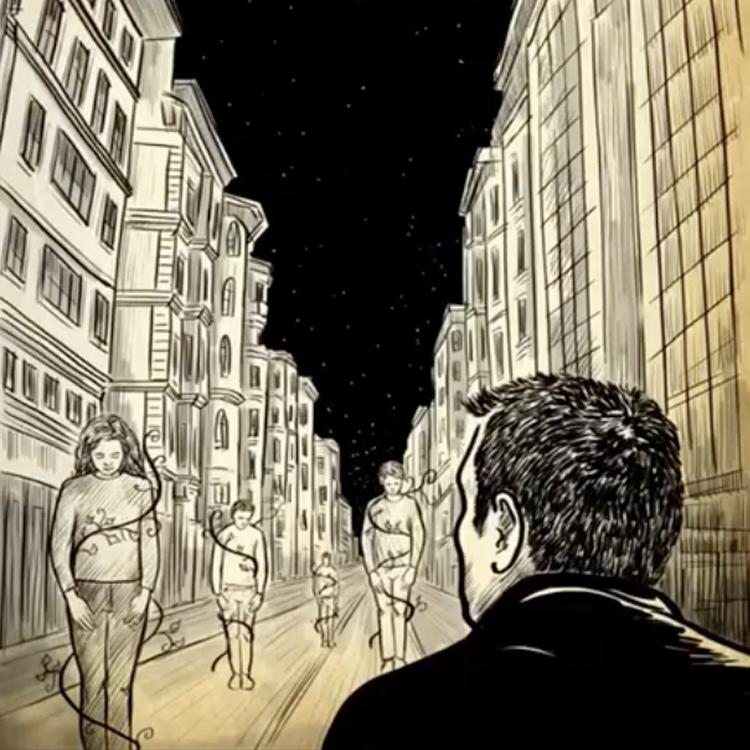 """"""" GÜRÜLTÜDE OKUMAK"""" Animation for Ece Temelkuran"""